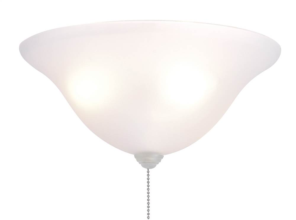 13in. White Frosted Bowl Ceiling Fan Light Kit by Fanimation, Inc.