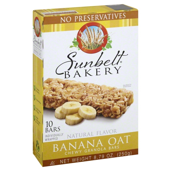Sunbelt Bakery Family Pack Banana Oat Chewy Granola Bars, 8.79 oz