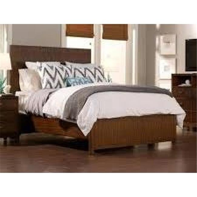 Alpine Furniture ORI-711-07CK Loft California King Panel Bed, Dark Walnut - 56 x 80 x 89 inch