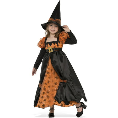 Salem Town Halloween (Spider Witch Girls Classic Orange Black Salem Child Halloween)