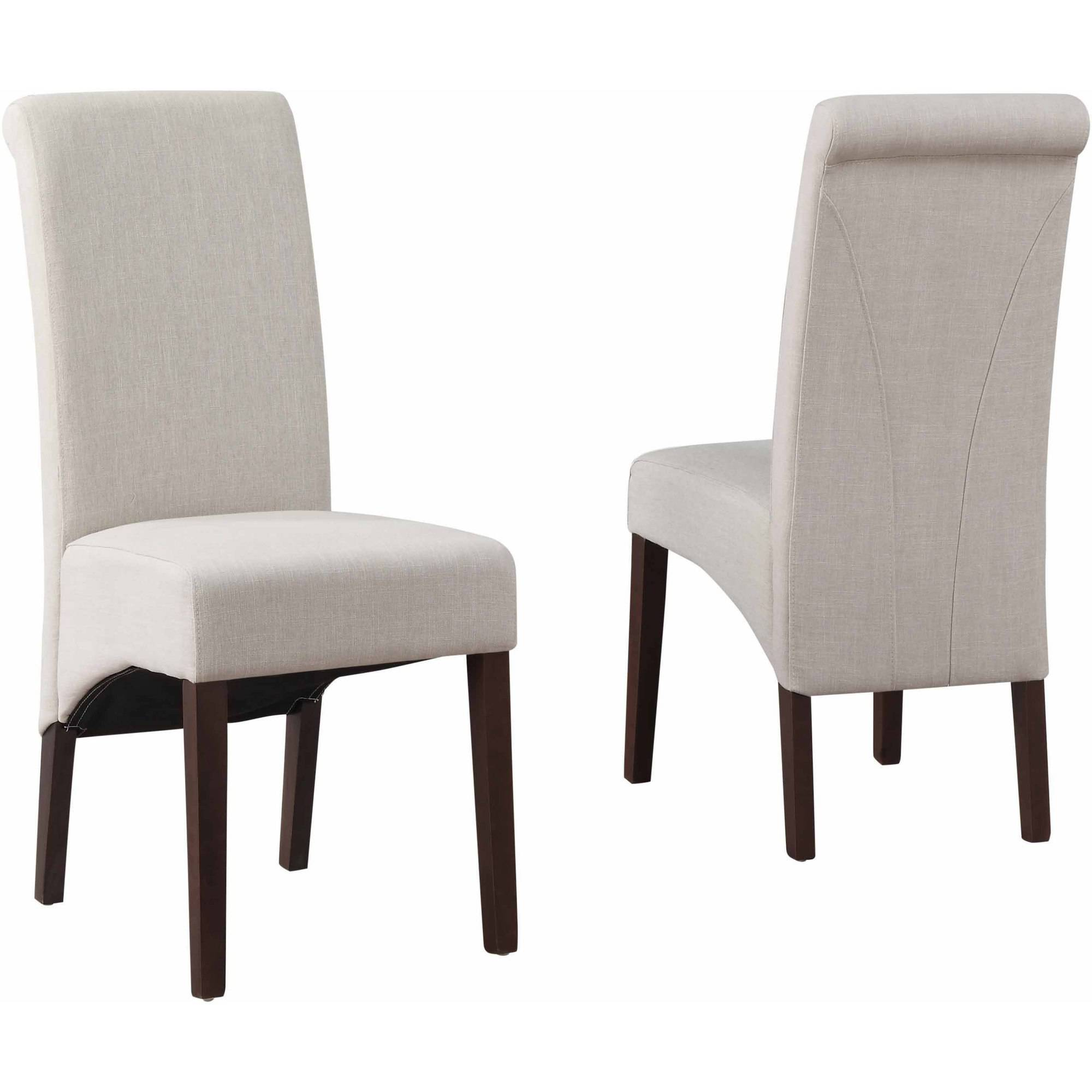 Walker Edison Upholstered Eames Chairs Grey Set of 2 Walmart