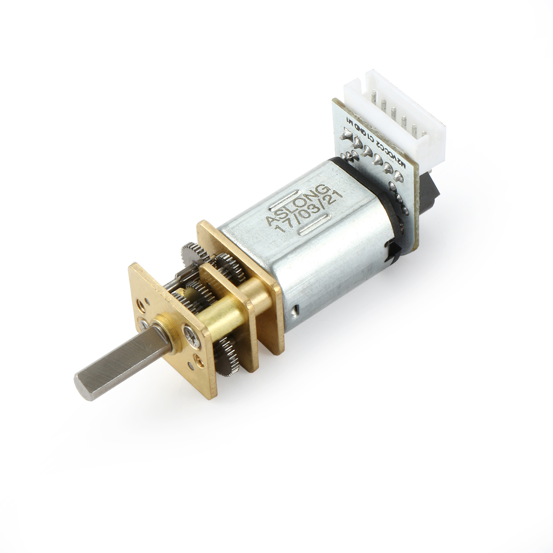 DC 3V 50RPM Mini Speed Reduction Motor Electric Micro Gear Box with 2 Terminals