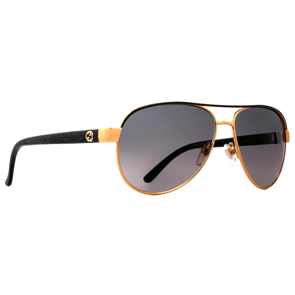 f82fce4be8c Gucci - Gucci GG 4239 S DYO EU Gold Black Gray Lens Women s Aviator  Sunglasses - Walmart.com