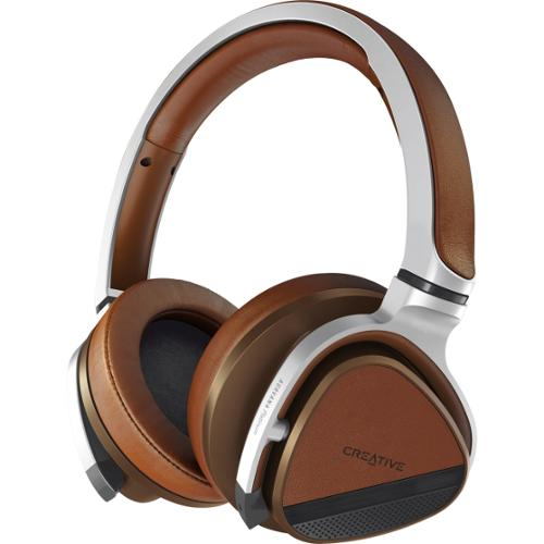 Creative Aurvana Platinum Stereo Bluetooth Headset - Silver, Brown