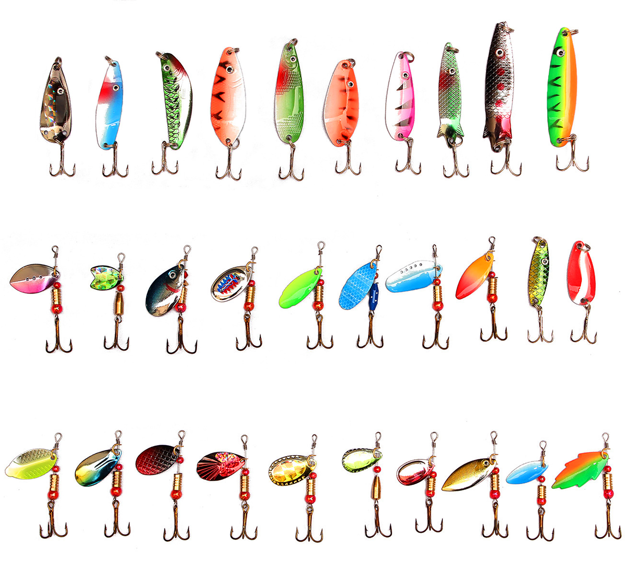 Click here to buy LotFancy Lot 30PCS Fishing Lures Spinner Baits Crankbait Assorted Fish Tackle Hooks by LotFancy.