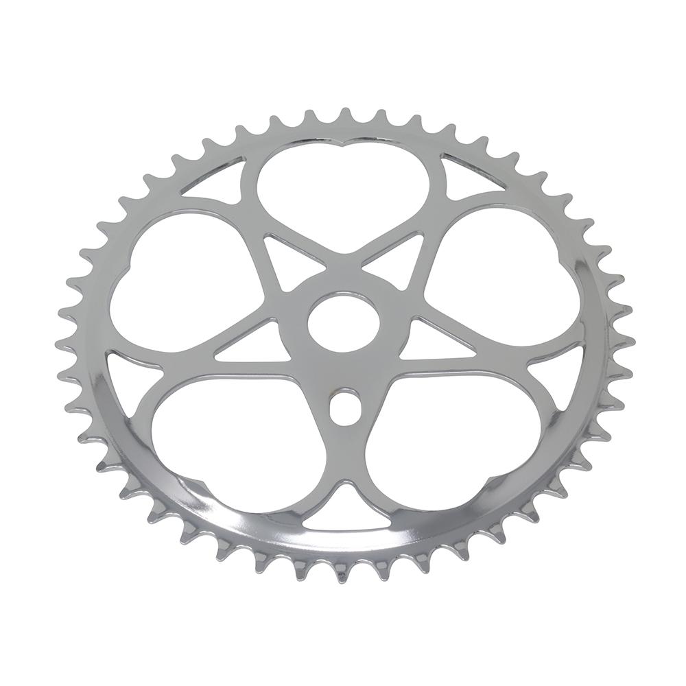 Fenix Sweet Heart Bike Sprocket/Chainring, 46T Chrome, Various Thickness (46 Teeth (1/2 x 1/8))