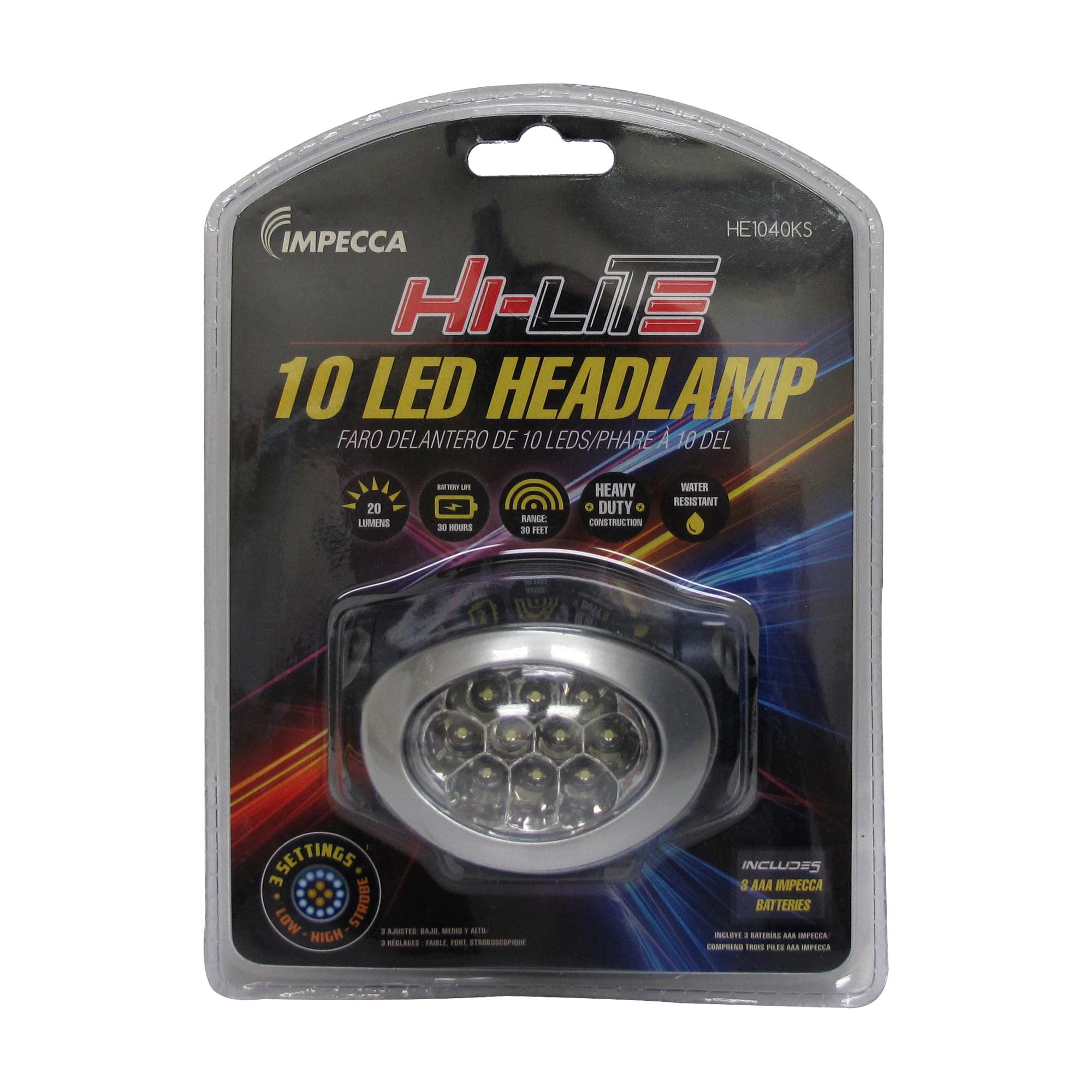 Impecca HE1040KS Hi-lite 10-led Headlamp Black/silver