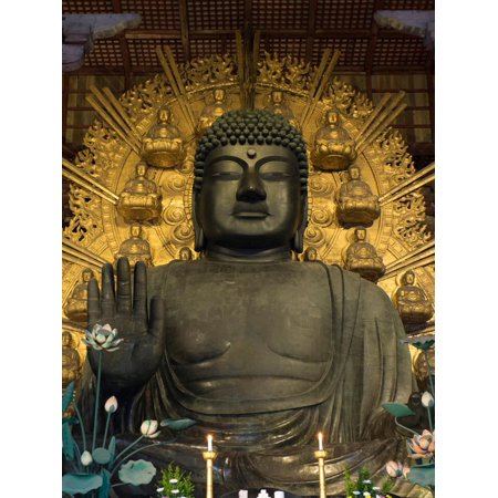 Todaiji Temple - Great Buddha Statue in Todaiji Temple, Nara Prefecture, Japan Print Wall Art