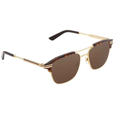Gucci Brown Square Sunglasses GG0241S 003 54