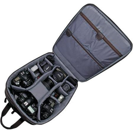 Jill-e Jack Large Rolling Brown Leather Camera Bag SLR Case 144751 NEW