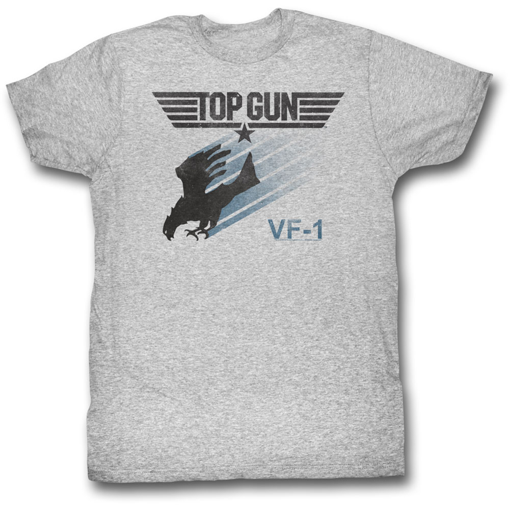Top Gun Men's  Bird Of Thunder Slim Fit T-shirt Gray Heather