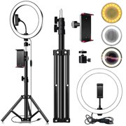"""10"""" LED Ring Light with Stand and Phone Holder Ring"""
