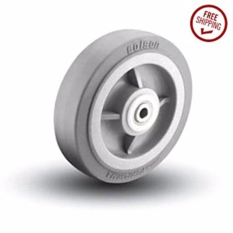 "(1) Colson 8"" x 2"" Soft Rubber Wheel with 1/2"" ID 5-8-459 1/2"" ID Axle Bore"