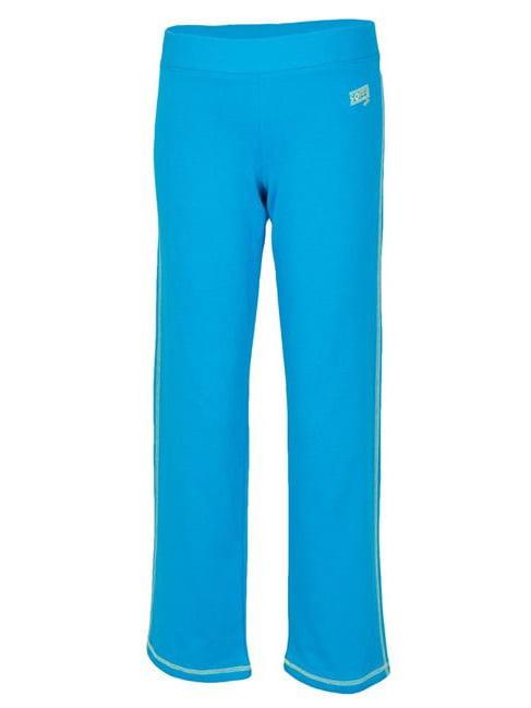 Soffe 7447G4CWMED Girls Year Round Pant, Atomic Blue & Sweet Green - Medium