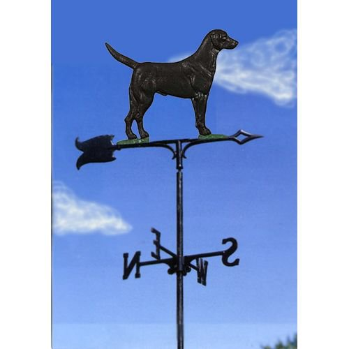 Painted Black Lab Garden Weathervane by Weathervanes
