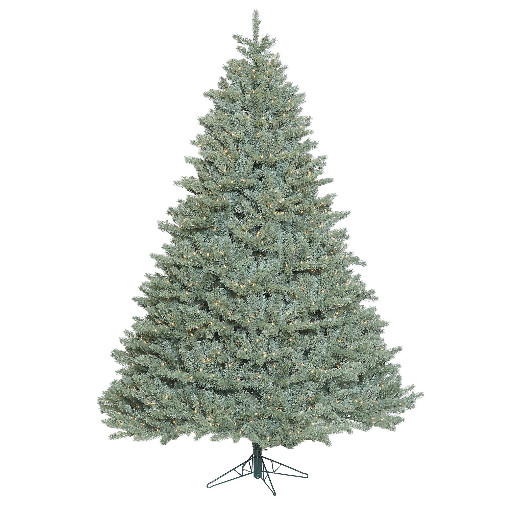 Vickerman Artificial Christmas Tree 6.5' x 58'' Colorado Blue Spruce Dura-Lit 850 Clear Lights