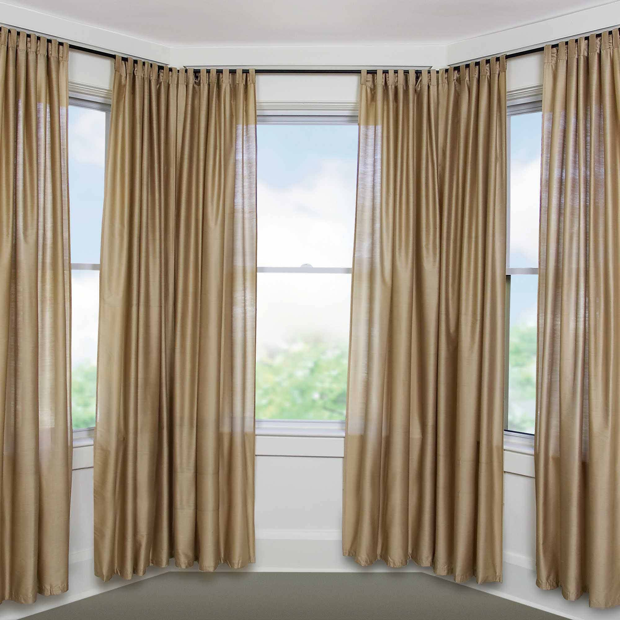 "Bay Window Adjustable Curtain Rod for Windows, 5/8"" Diameter - Walmart.com"