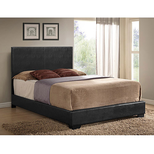 Ireland Full Faux Leather Bed, Black