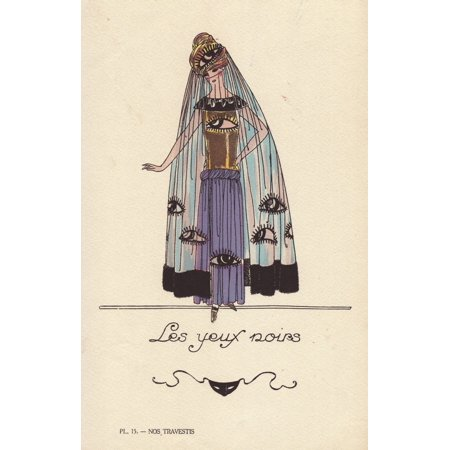 Woman In Kohl Eye Costume Poster Print By   Florilegius  Mary Evans