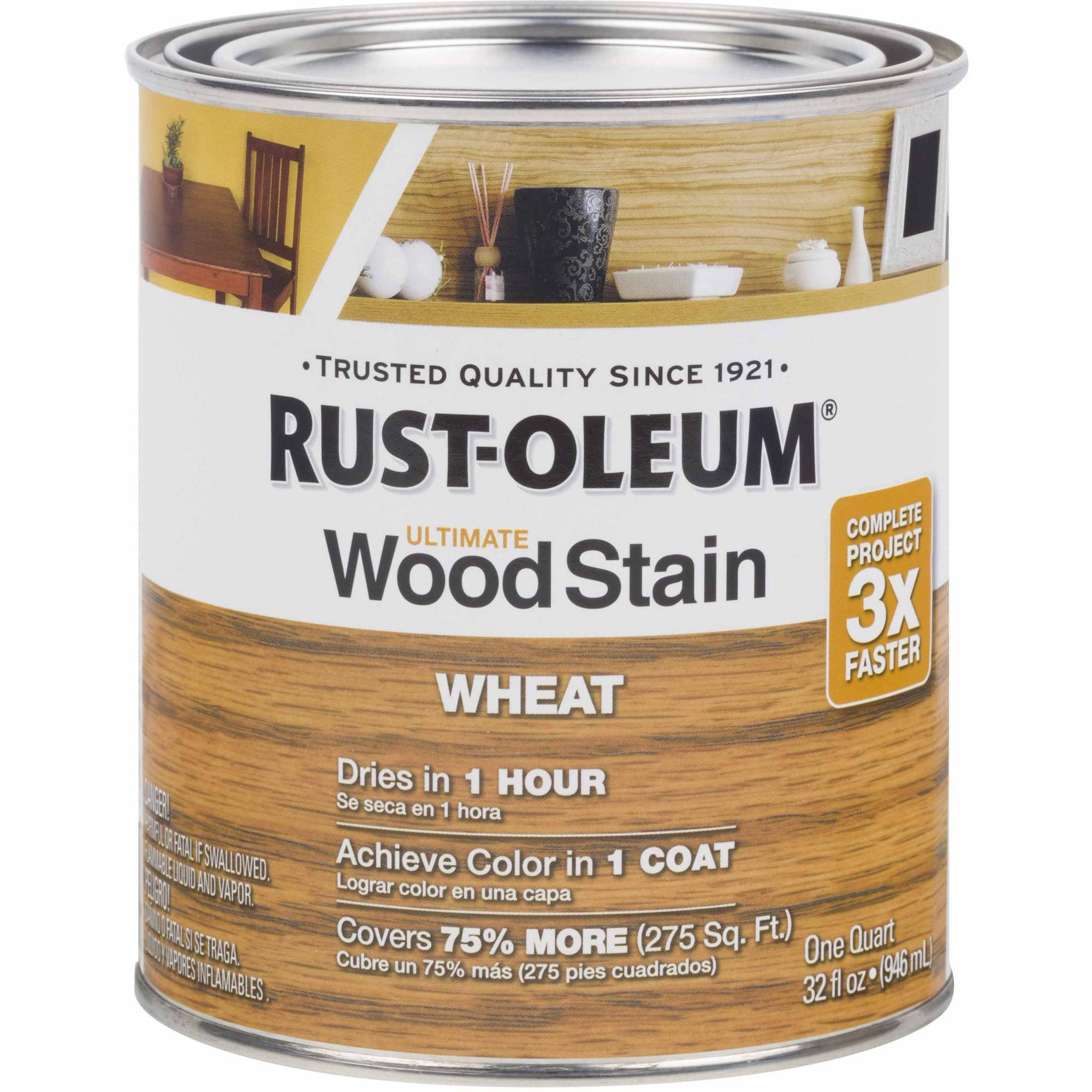 Rust-Oleum Ultimate Wood Stain Quart, Wheat