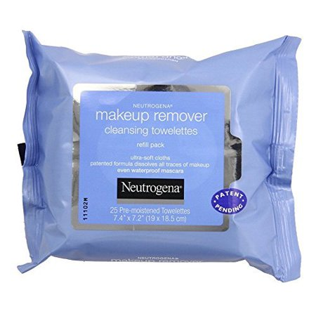 Image of Neutrogena Makeup Remover Cleansing Towelettes, Refill Pack, 25 Count
