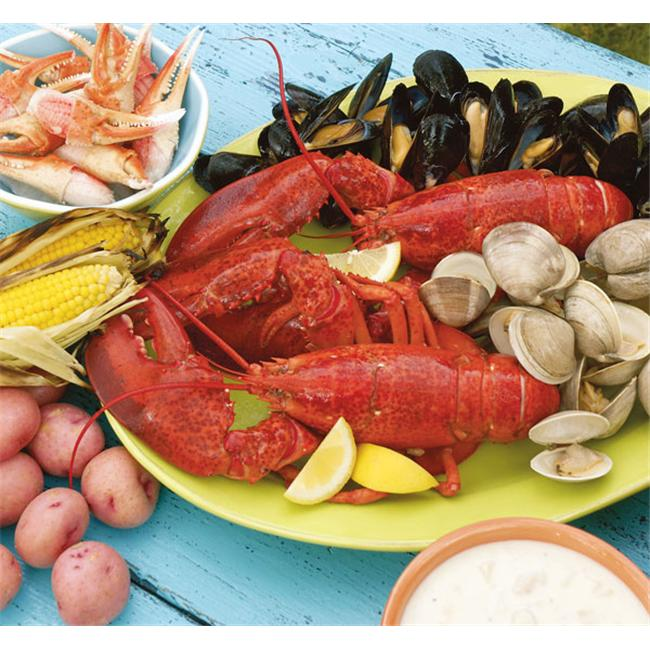 Lobster Gram BSGR2Q BOSTON PARTY GRAM DINNER FOR TWO WITH 1. 25 LB LOBSTERS