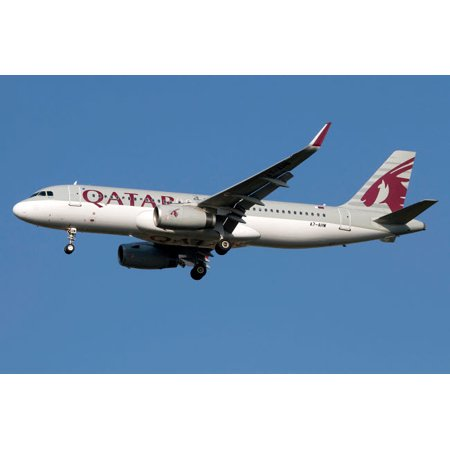 Airbus A320 Sharklet Of Qatar Airways Poster Print By Luca Nicolottistocktrek Images