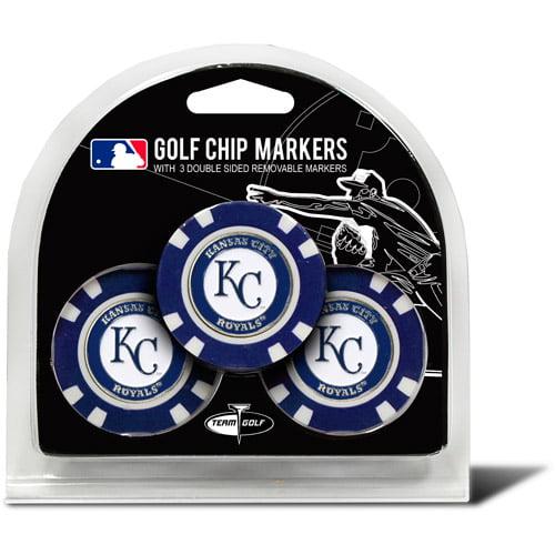 Team Golf MLB Kansas City Royals 3 Pack Golf Chip Ball Markers