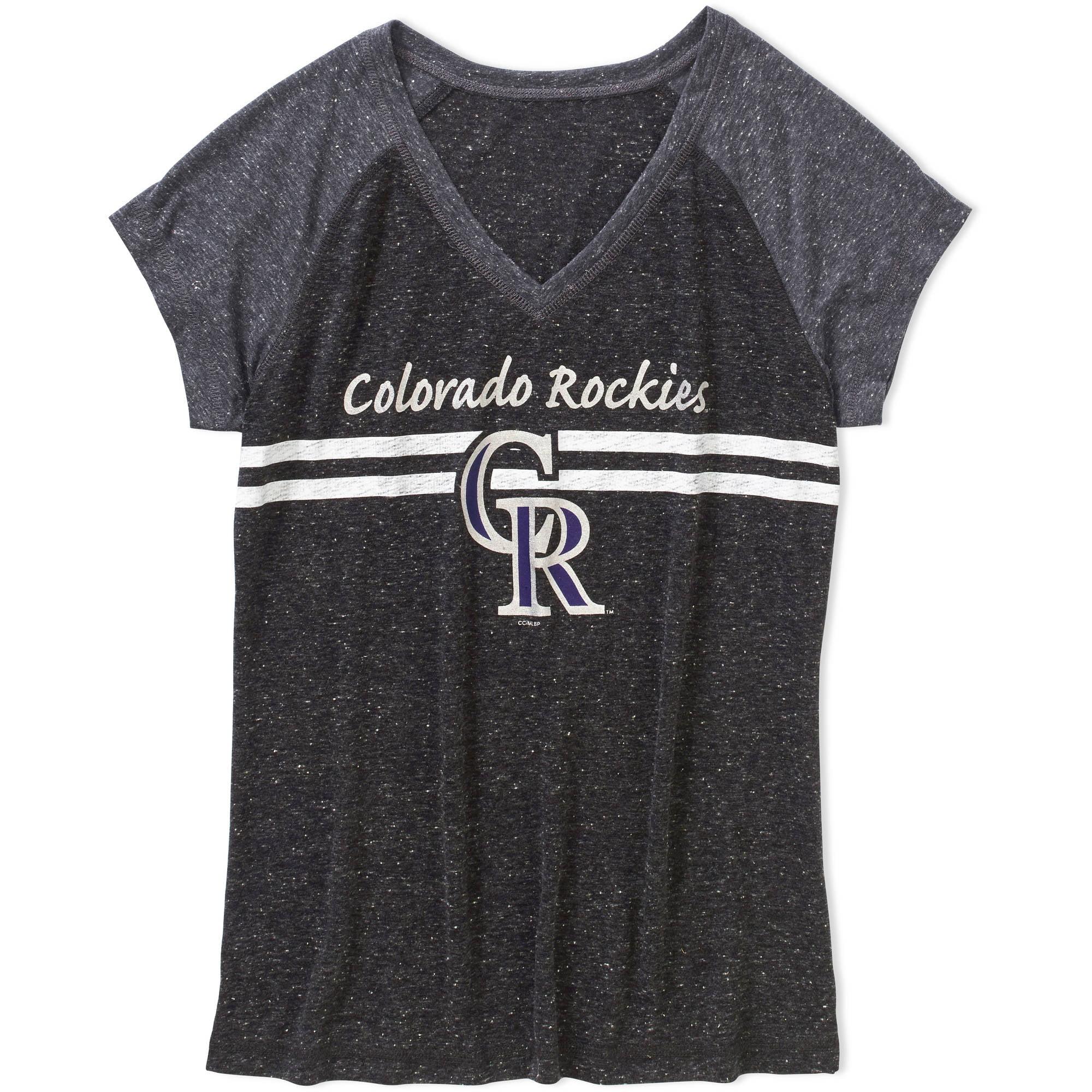 MLB Womens Colorado Rockies Short Sleeve Top