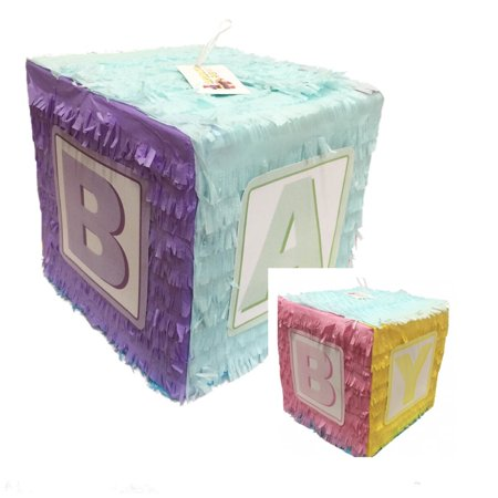 APINATA4U Gender Reveal Baby Block Pinata](Toddler Pinata)