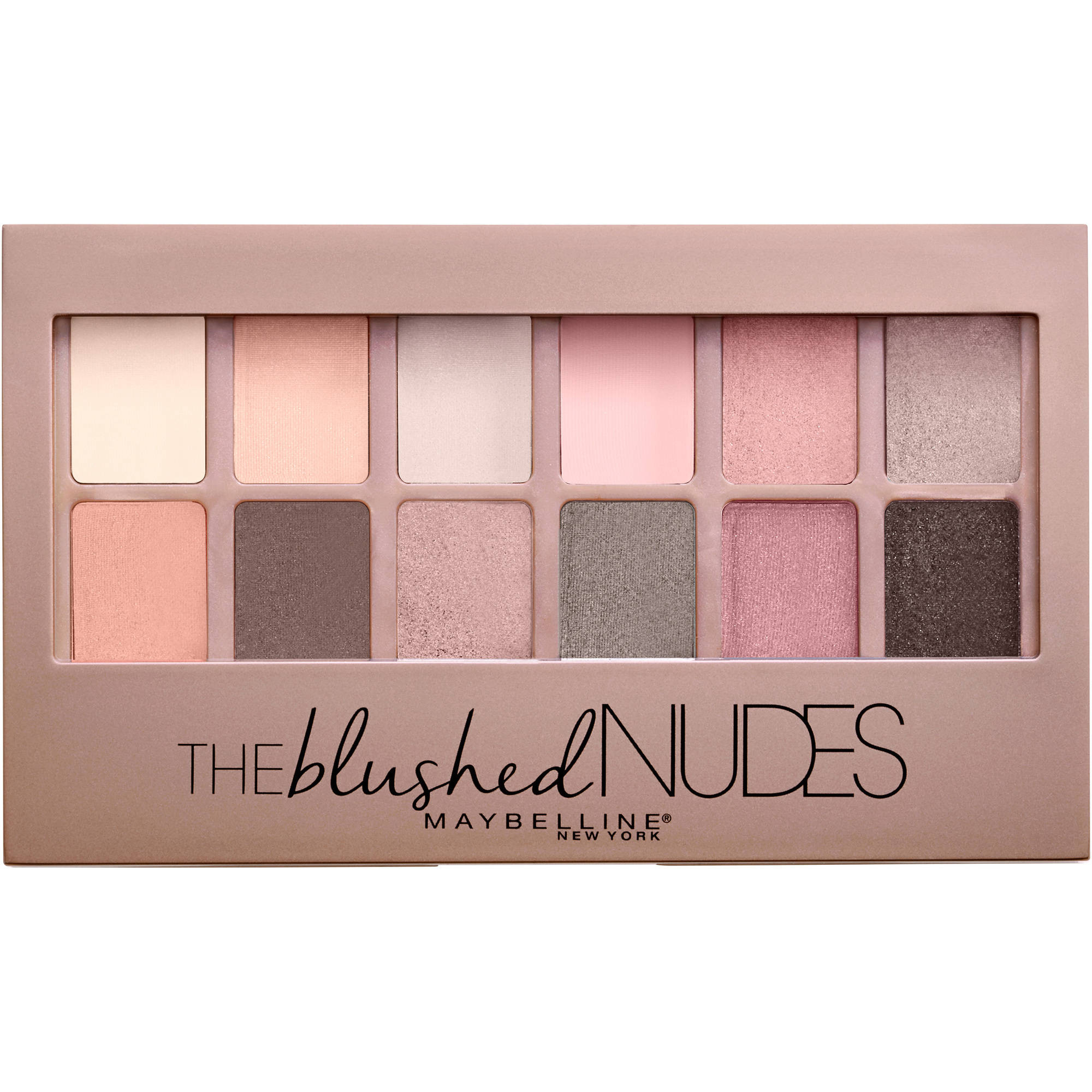Maybelline New York Expert Wear Shadow Palette, The Blushed Nudes, 0.34 oz