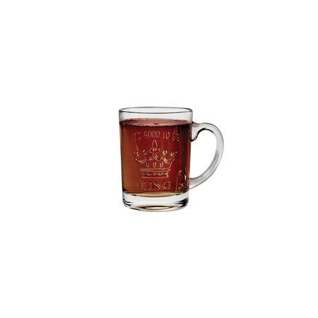Embossed Beer (Studio Silversmiths It's Good to Be King Mug - Crown Embossed Glass Coffee Beer Mug - 12 oz.)