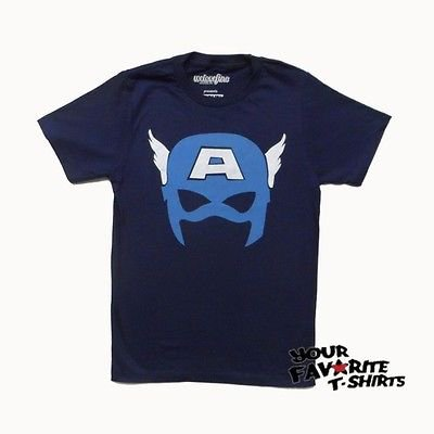 Captain America Simple Mask Avengers Marvel Comics Adult T-Shirt