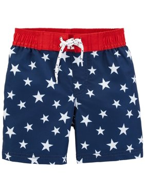 OshKosh B'gosh Little Boys' Star Print Swim Trunks, 3T