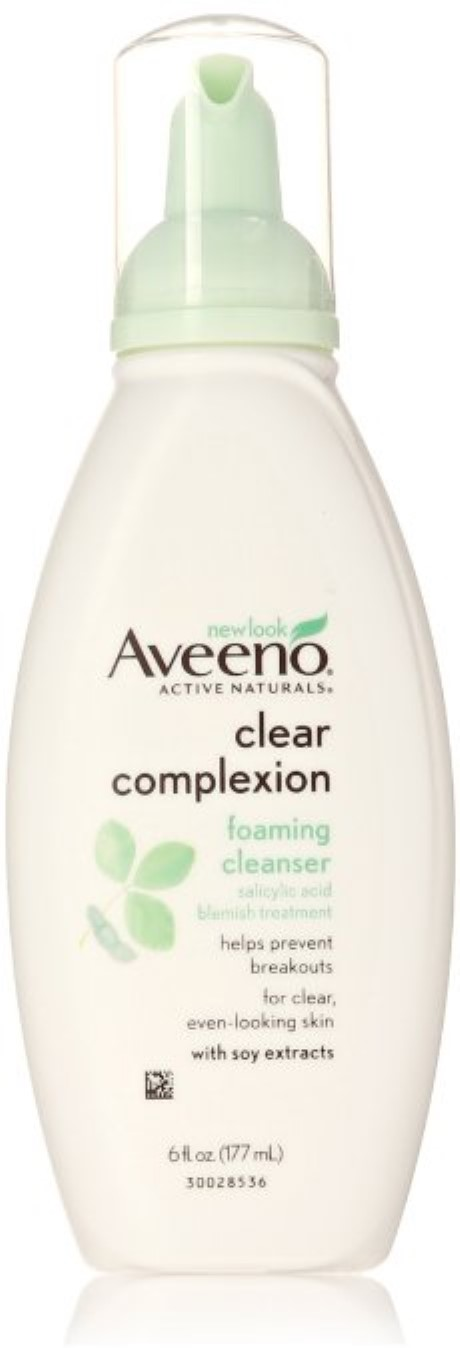 AVEENO Active Naturals Clear Complexion Foaming Cleanser 6 oz (Pack of 2) ~ Holiday 2015 Limited Edition Decorative Lip Balm Collection, By EOS