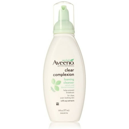 2 Pack - AVEENO Active Naturals Clear Complexion Foaming Cleanser 6 oz