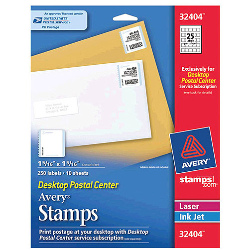 Avery Stamp Labels, 250-Count