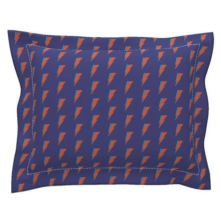 Glam Rock Decor (Ziggy Rock Glam Blue Red Aqua Retro Home Decor Bowie Pillow Sham by)