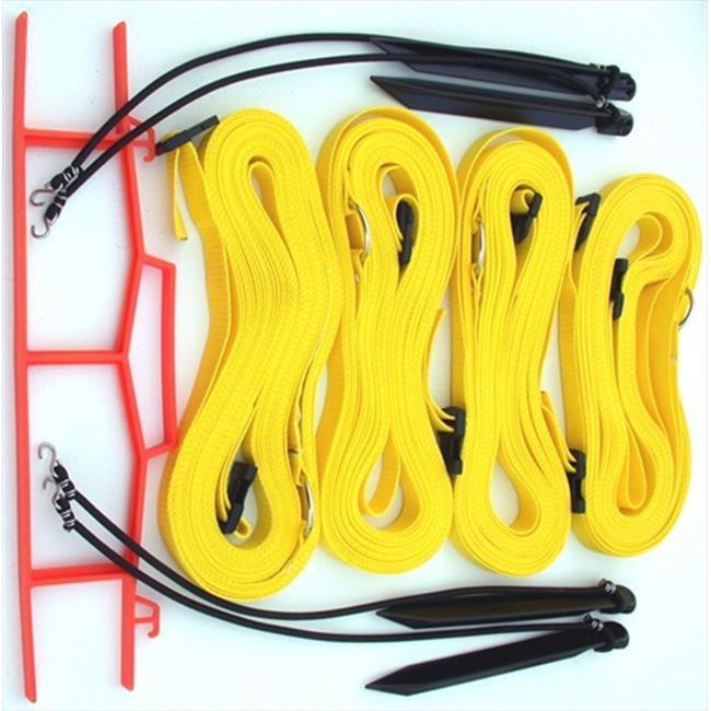Home Court M817AYS 8 Meter Yellow 1-inch Adjustable Web Courtlines