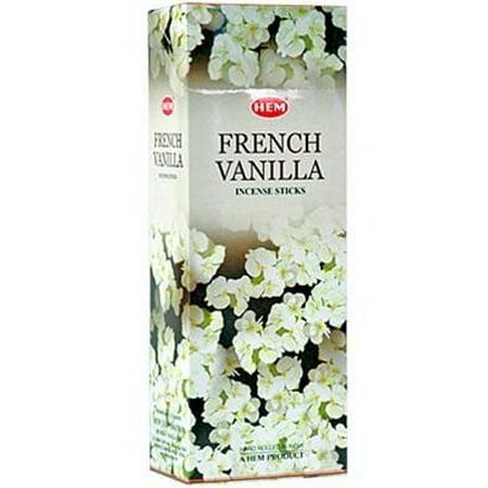 French Incense Sticks (Hem French Vanilla Incense, 120 Sticks Box )