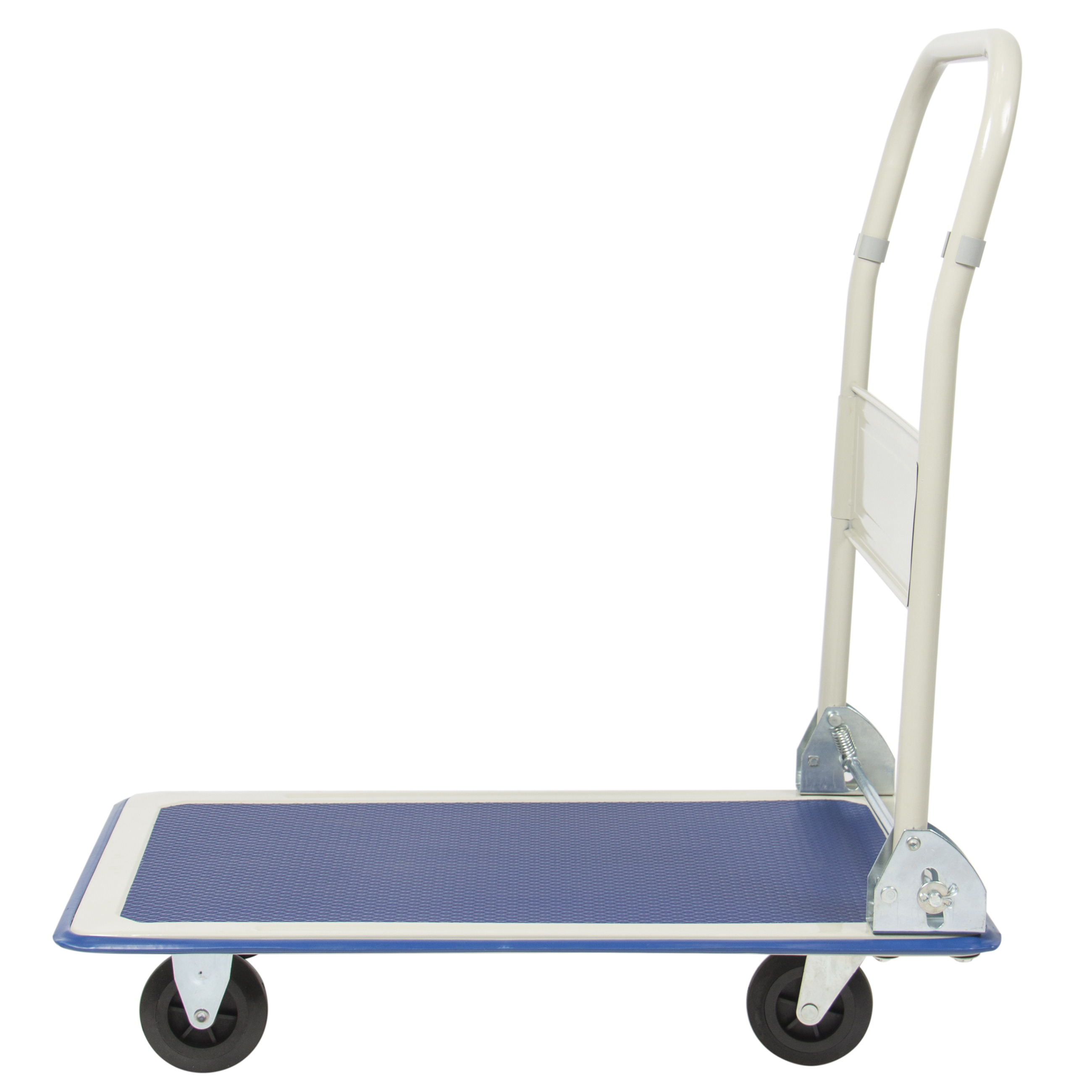 c3e26e4f91c5 Best Choice Products 4-Wheel Foldable Rolling Warehouse Moving Flatbed  Platform Dolly Push Cart w/ 660lb Capacity, Non-Slip Surface - Blue