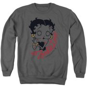 Betty Boop Classic Zombie Mens Crewneck Sweatshirt