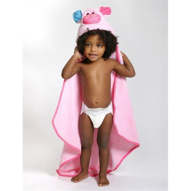 Zoocchini 11206 Pinky the Piglet Hooded Towel - 30 x 30 inch