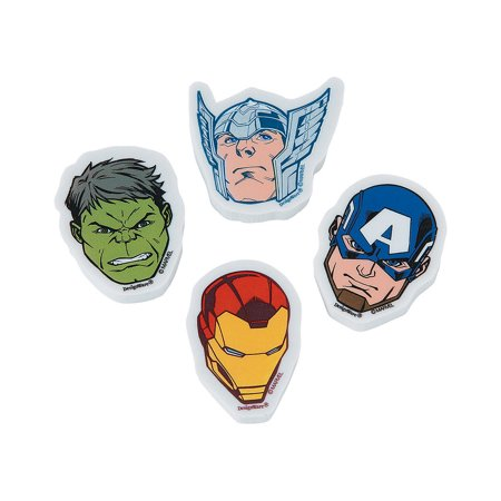Fun Express - Epic Avengers Erasers for Birthday - Party Supplies - Licensed Tableware - Misc Licensed Tableware - Birthday - 12 Pieces