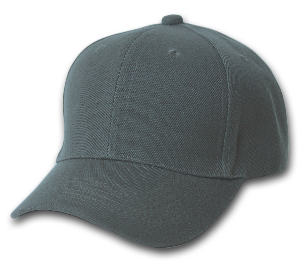Plain Summer Baseball Cap Hat- Charcoal
