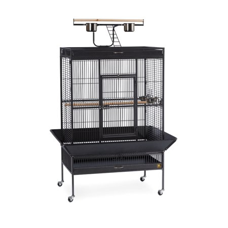Prevue Pet Products Signature Select Series Wrought Iron Bird Cage Black Hammertone