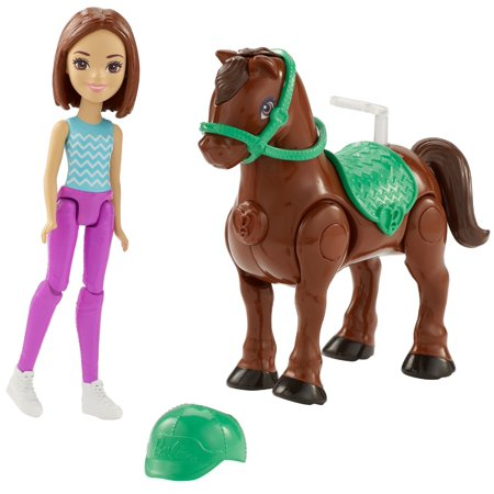 Barbie On the Go Brown Pony and Doll (Wizard Of Oz Barbie Set)