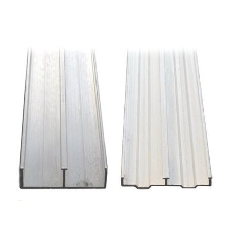 3 4 x 48 aluminum sliding door track for 1 4 inch sliding door track