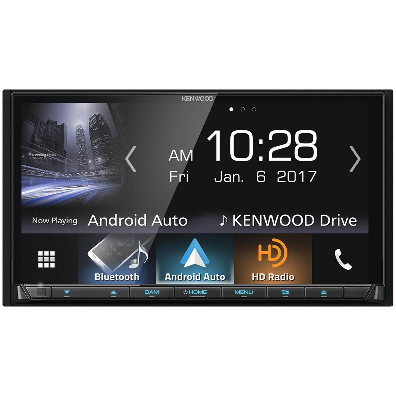 "Kenwood Ddx9704s 6.95"" Double-Din In-Dash DVD Receiver With Bluetooth, Apple Carplay, Android Auto, HD Radio &... by Kenwood"