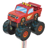 Blaze and the Monster Machines Birthday Pinata, Pull String, 14in x 14in, 1ct